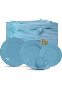 Aparelho De Jantar Standard 30 Peças - Scalla - Azul Turquesa
