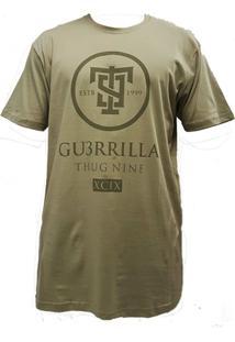 Camiseta Thug Nine Gerrilha Verde - Masculino