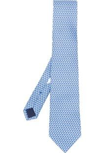 Salvatore Ferragamo Gravata Com Padronagem - Azul