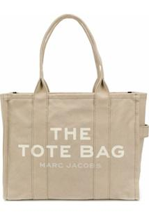 Marc Jacobs Bolsa Tote The Traveller De Canvas - Neutro