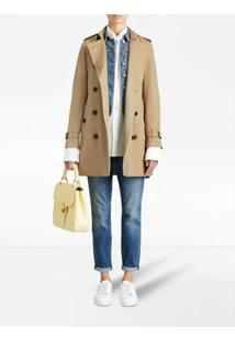 Burberry Trench Coat Midi Kensington - Neutro