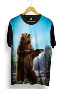 Camiseta Bsc Urso Louco Full Print - Masculino