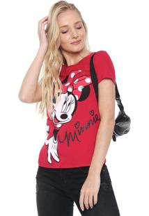 Blusa Cativa Disney Minnie Mouse Vermelha