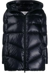 Woolrich Oversized Puffer Jacket - Preto