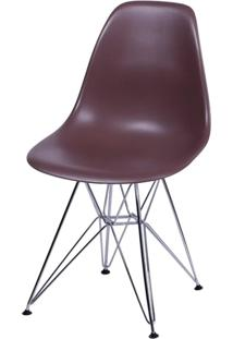 Cadeira Eames Polipropileno Cafe Base Cromada