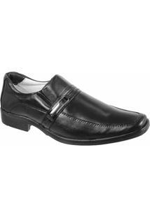 Sapato Social Confort Ranster Com Fivela - Masculino-Preto