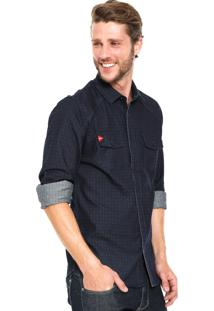 Camisa Jeans Be Red Shape Azul