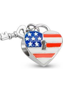 Pingente Life Coração Americano