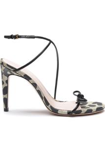 Sandália Special Italian Strings Black Animal Print | Schutz