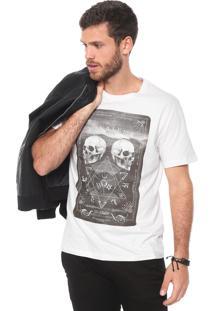 Camiseta Cavalera Caveira Off-White