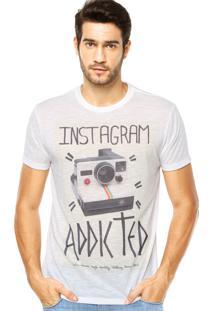 Camiseta Iódice Denim Estampa Branca
