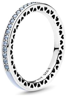 Anel Corações Radiantes Pandora Azul Céu