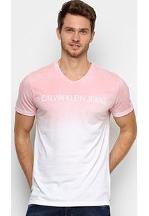 Camiseta Calvin Klein Estonada Masculina - Masculino-Rosa Claro