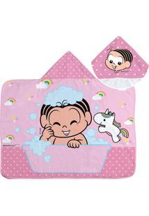 Toalha De Banho Turma Da Monica Baby Com Capuz