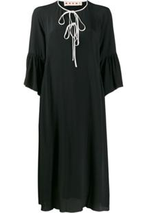 Marni Vestido Midi Abma - Preto