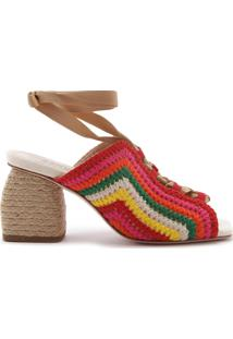 Sandália Salto Texture Tricô Multicolor   Schutz