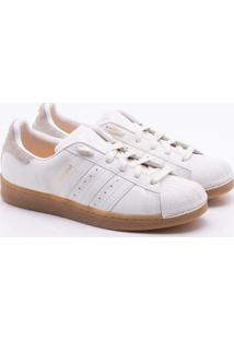 7b84557a65a Sneaker Adidas Couro feminino
