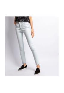 Calça Feminina Skinny Com Rebite Lavagem Clara Jeans