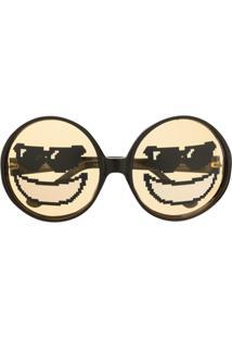 Linda Farrow Óculos De Sol Com Estampa De Emoji - Marrom
