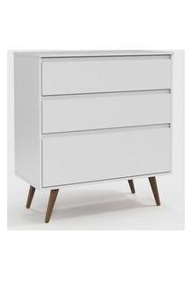 Cômoda Retrô Clean Branco Soft / Eco Wood