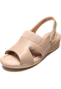 Sandália Comfortflex Anabela Comfort Nude