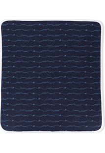 Emporio Armani Kids Cobertor Com Estampa De Logo - Azul
