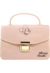Bolsa Pequena Mickey Mouse Feminina - Feminino-Nude