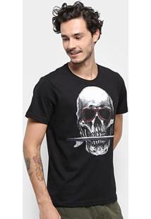 Camiseta Stanley Skull Surf Masculina - Masculino-Preto