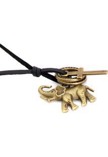 Colar Lovelee Acessórios De Elefante Old Preto
