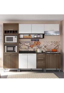 Cozinha Compacta Isadora 10 Pt 3 Gv Castanho E Branco