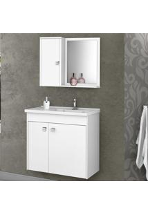Conjunto Para Banheiro Munique Branco - Bechara Móveis