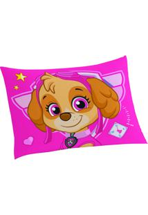 Fronha Patrulha Canina®- Rosa & Marrom Claro- 50X70Clepper