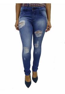 Calça Jeans Bazz Rasgada Azul