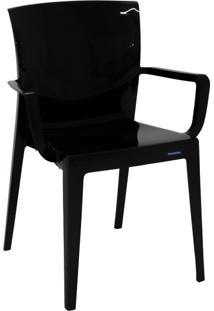 Cadeira Victória Braços E Encosto Fechado Preto Tramontina