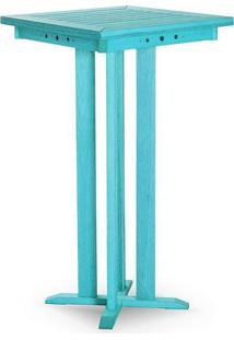Mesa Bar Alta Estrutura Azul 110Cm - 61611 - Sun House