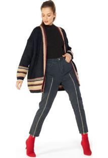 Calça Jeans Reta Super Zíper