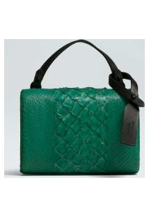 Pirarucu And Salmon Crossbody Clutch-Verde Imperial - Un