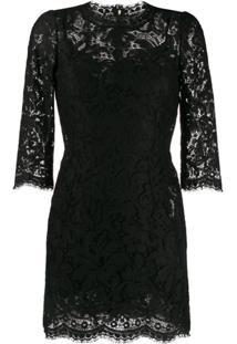 Dolce & Gabbana Vestido Com Renda - Preto