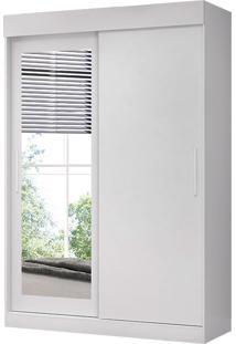 Guarda-Roupa Solteiro 2 Portas C/ Espelho Bolt – Móveis Albatroz - Branco