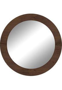 Espelho Redondo, Imbuia Soft, Gale