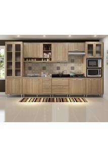 Cozinha Completa 17 Portas Para Pia E Cooktop 5806 Argila - Multimóveis