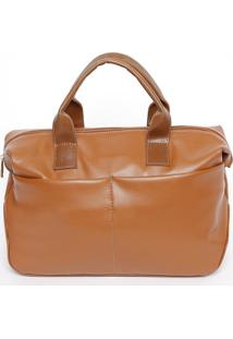 Bolsa Lisa Com Recortes- Marrom Claro- 24X28X14Cmmr. Cat