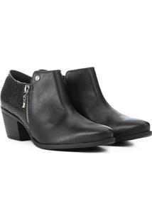 Bota Via Marte Country Cobra - Feminino-Preto