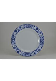 Conjunto De Pratos Rasos Porcelana Schmidt 06 Peças - Dec. Azulejo