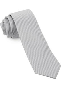 Gravata Slim Textured Silver - Spc88
