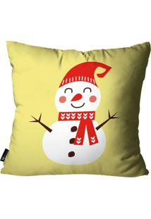 Capa Para Almofada De Natal 45X45Cm Amarelo