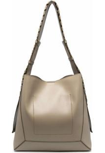 Stella Mccartney Large Braided-Strap Shoulder Bag - Neutro
