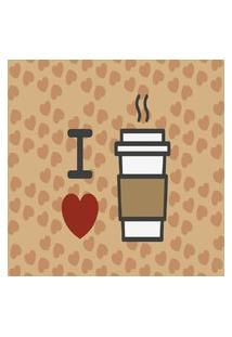 Tapete Capacho Transfer 40Cm X 60Cm I Love Coffee