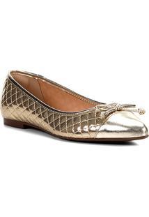 Sapatilha Shoestock Matelassê Bico Fino Laço Feminina - Feminino