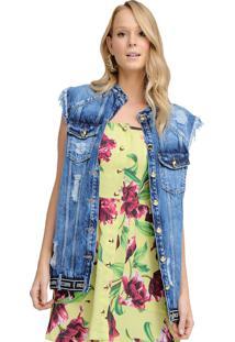 Colete Riccieri Jeans - Azul - Feminino - Dafiti